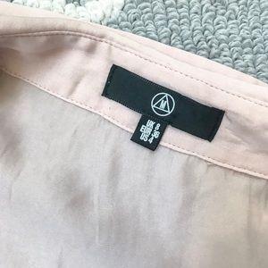 Missguided Dresses - Missguided Pink satin waist tie self wrap dress 4